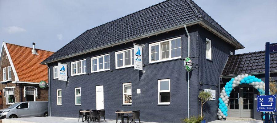 Restaurant Aqua buiten bij Jachthaven de Brasem