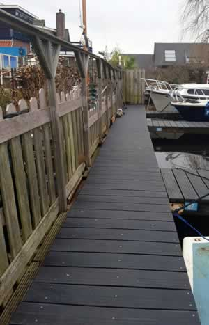 Jachthaven de Brasem: nieuwe steiger bij restaurant